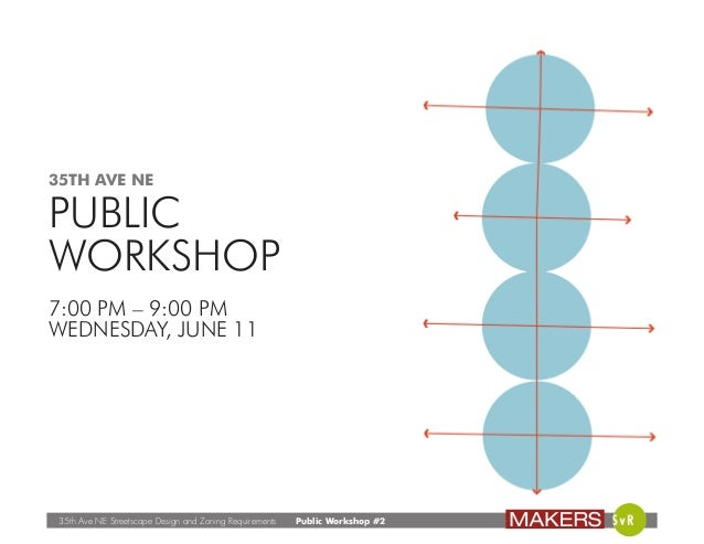 35th Ave NE Streetscape Design and Zoning Requirements Public Workshop #2 35TH AVE NE PUBLIC WORKSHOP 7:00 PM – 9:00 PM WE...