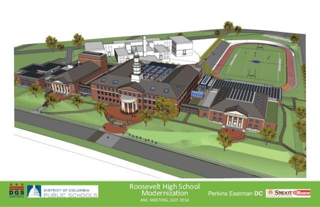 Roosevelt High School Moderniza on ANC MEETING, JULY 2014