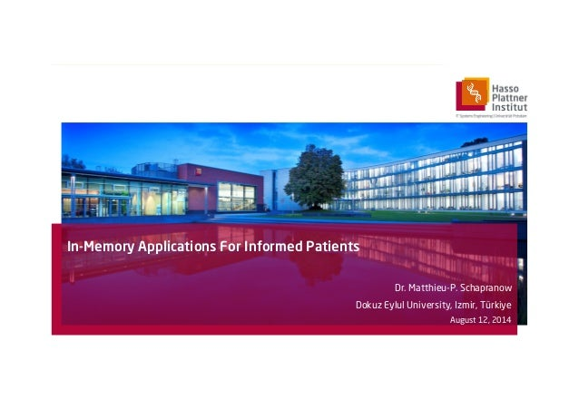 In-memory Applications for Informed Patients
