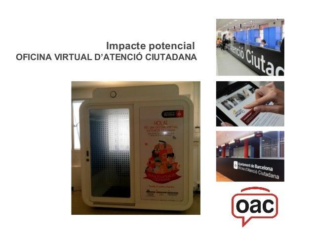 Impacte potencial OFICINA VIRTUAL D'ATENCIÓ CIUTADANA