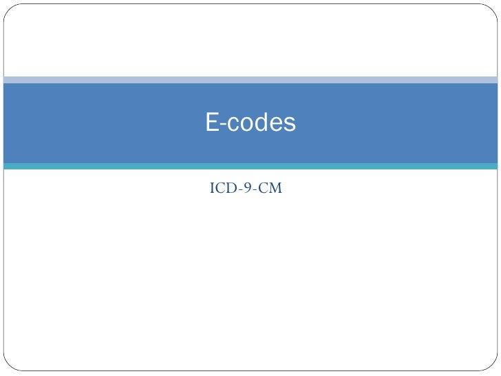 Coding E Codes