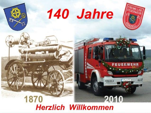 140 Jahre Herzlich Willkommen