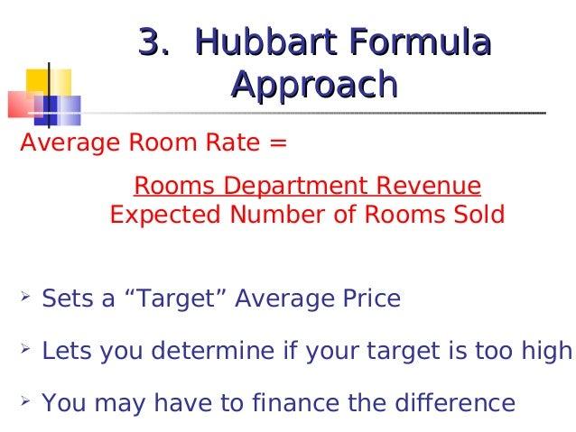 Hubbart Room Rate Formula
