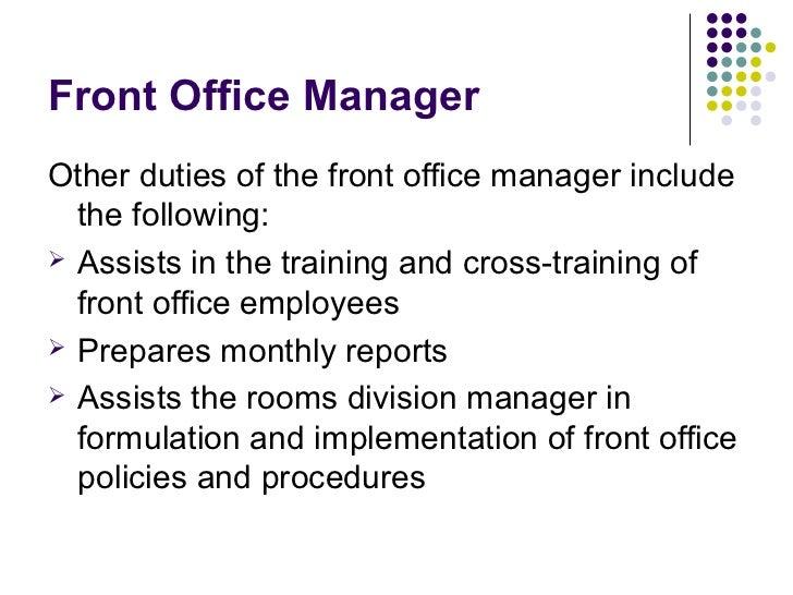 office manager duties - Template - Template office manager duties