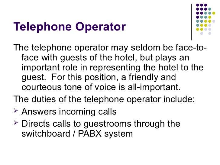 telephone operator duties driverlayer search engine
