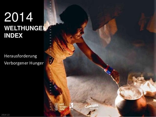 2014  WELTHUNGER-INDEX  Herausforderung  Verborgener Hunger  2014-1.0