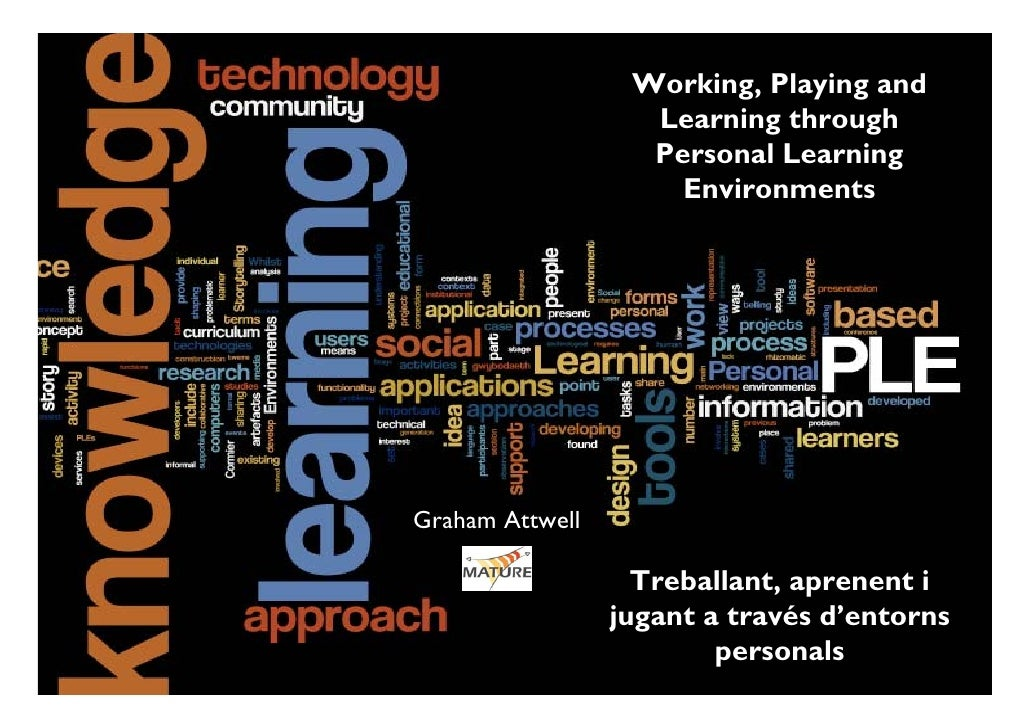 Treballant, aprenent i jugant a través d'entorns personals d'aprenentatge (PLE). Graham Attwell
