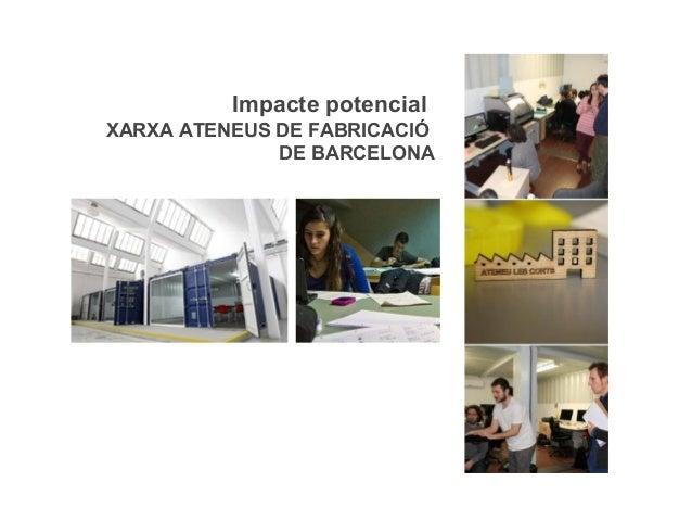 Impacte potencial XARXA ATENEUS DE FABRICACIÓ DE BARCELONA