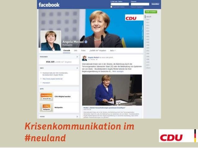 Krisenkommunikation im  #neuland
