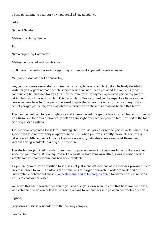 Official warning letter sample goalblockety official warning letter sample altavistaventures Choice Image