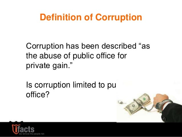 what is the impact of corruption on economic development Corruption is considered a strong constraint on growth and development the  academic literature, however, finds different effects of corruption.