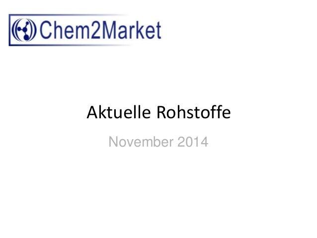 Aktuelle Rohstoffe  November 2014
