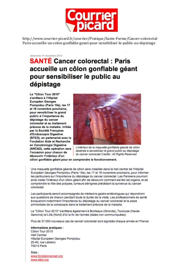 Article Presse Colon Tour - courrier-picard.fr - 14 Novembre 2010