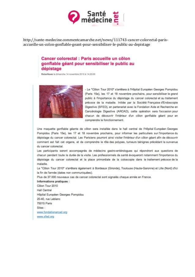 Article Presse Colon Tour - Santé médecine.net - 14 Novembre 2010