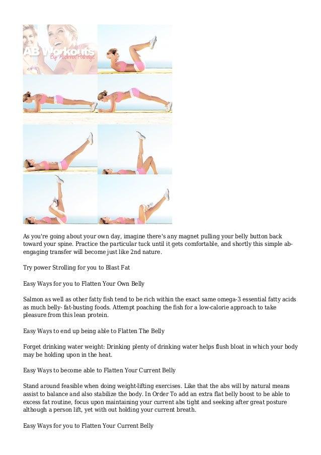 25 Ways To Flatten Your Belly