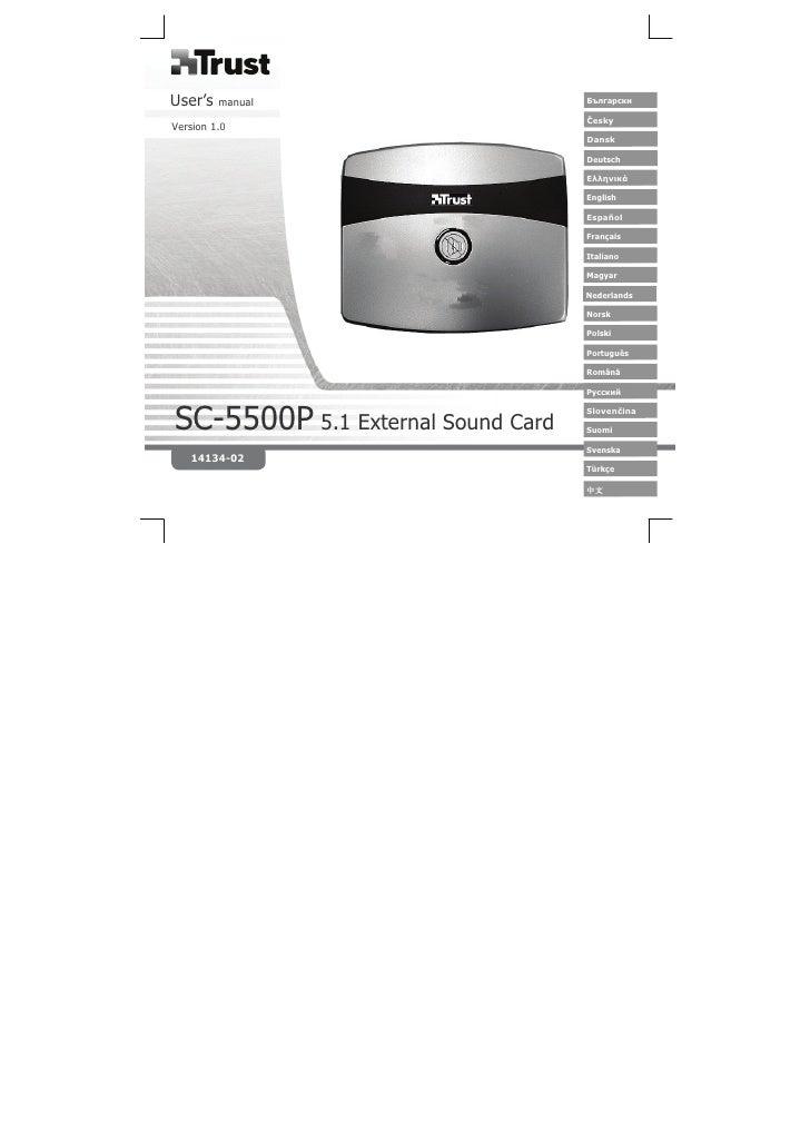 14134 Trust 5.1 external surround sound card sc-5500p