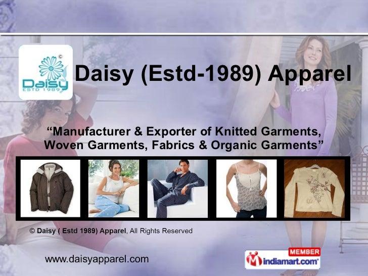 Daisy ( Estd 1989) Apparel Tamil Nadu India