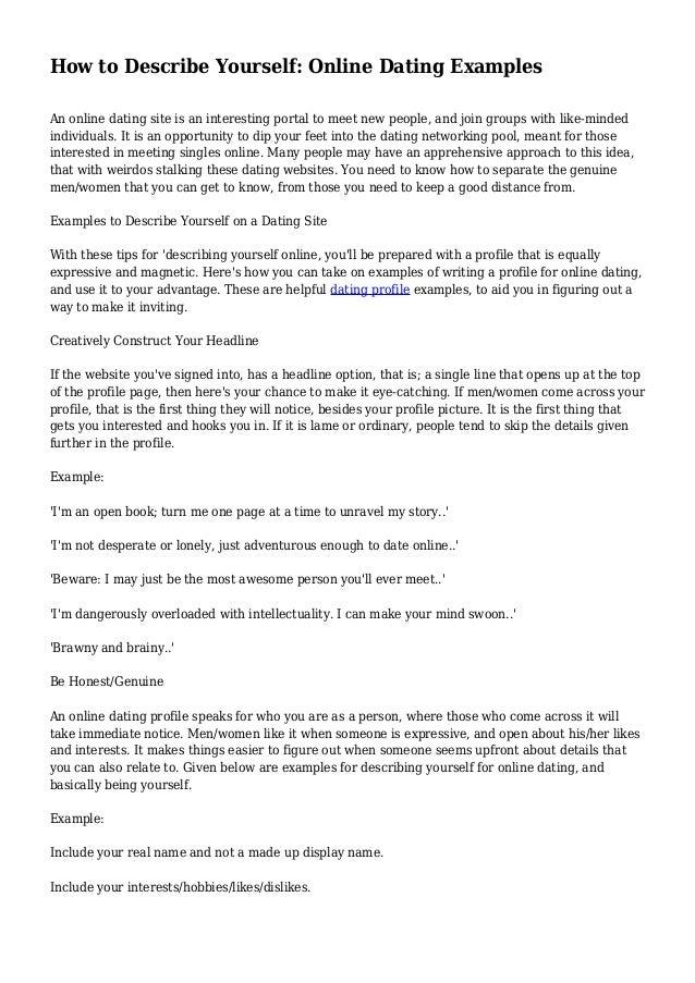 Sample introduction letter for online dating