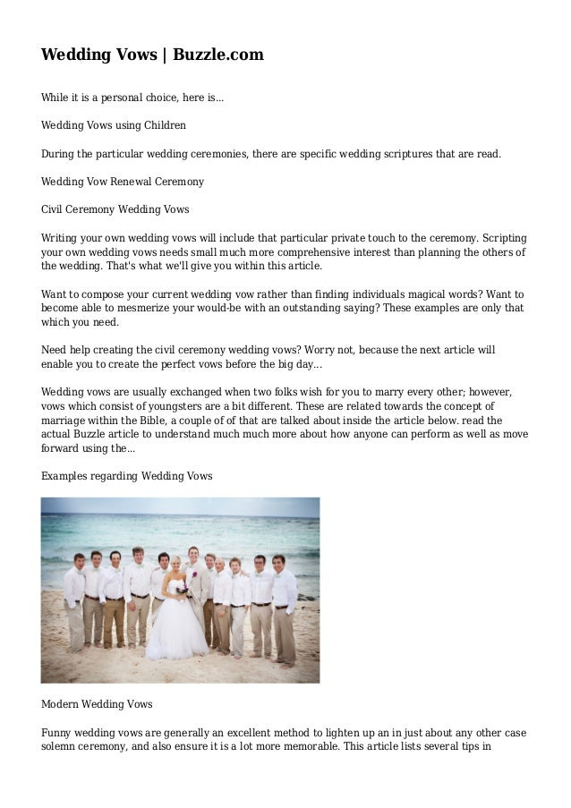 examples of wedding vows day of dreams