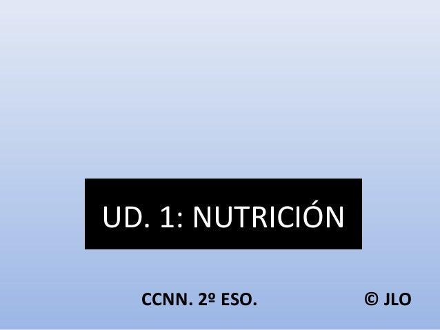 UD. 1: NUTRICIÓN  CCNN. 2º ESO. © JLO