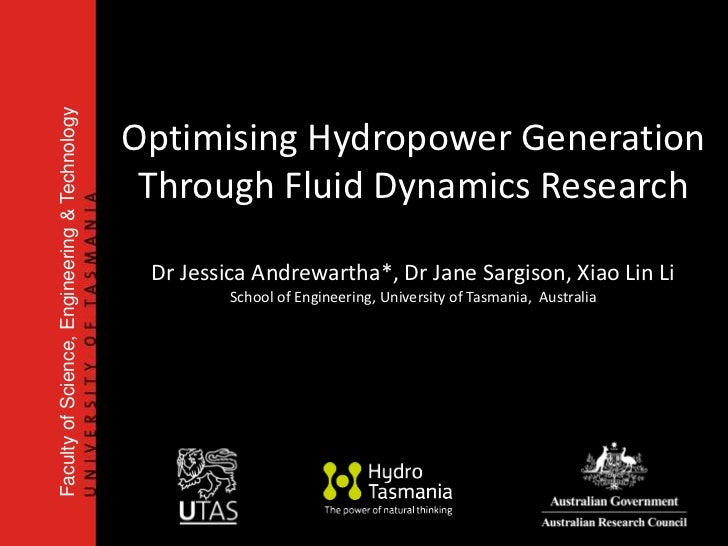 Faculty of Science, Engineering & Technology                                               Optimising Hydropower Generatio...