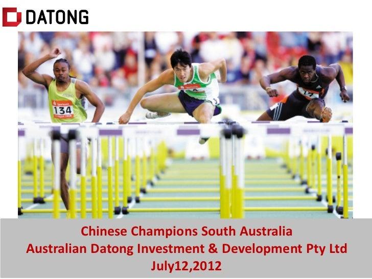 澳洲与中国房地产市场对比解析         Chinese Champions South AustraliaAustralian Datong Investment & Development Pty Ltd                ...