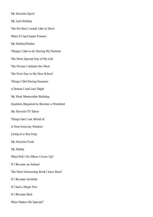 topics for essay co topics for essay