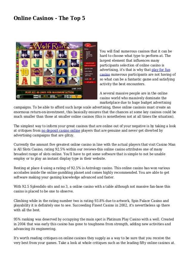 top 5 casinos online