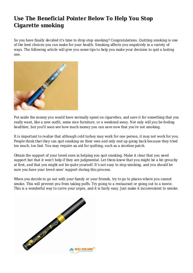 how to use e cigarettes to stop smoking