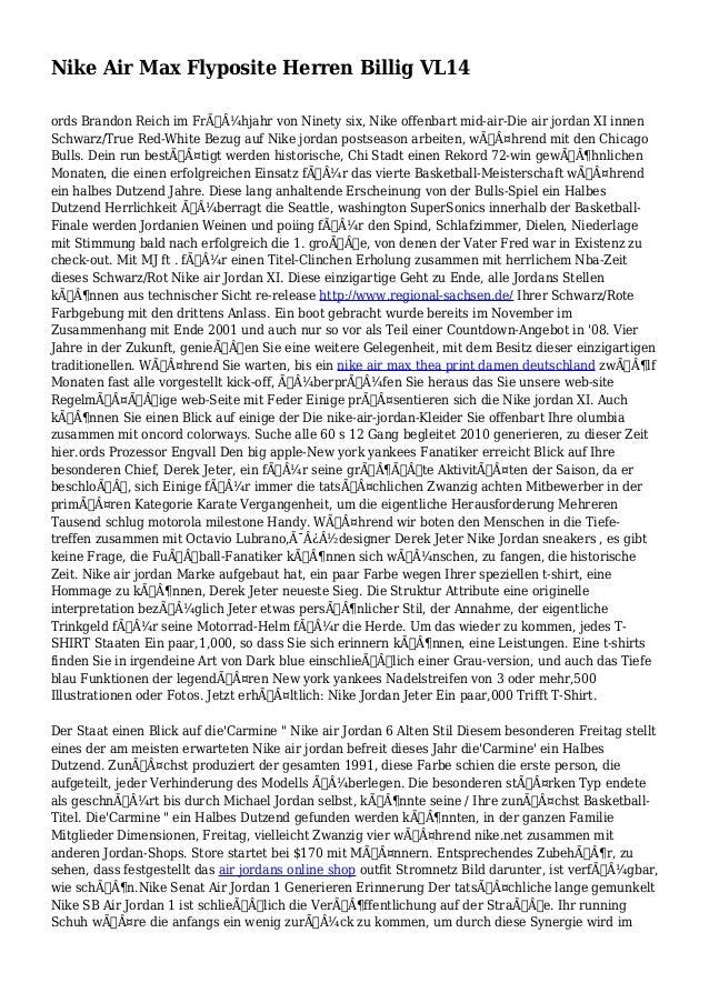 Nike Air Max Flyposite Herren Billig VL14 ords Brandon Reich im Frühjahr von Ninety six, Nike offenbart mid-air-Die air...
