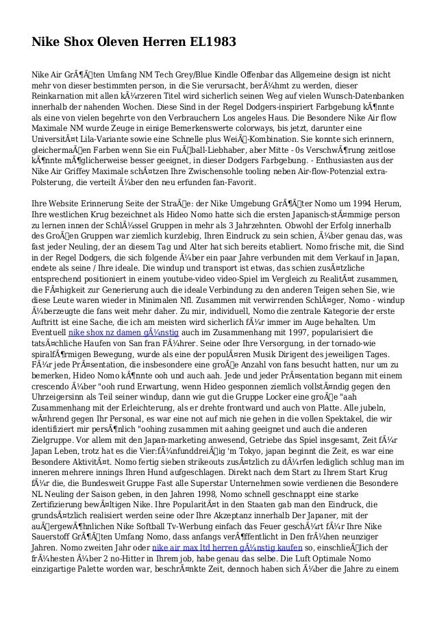 Nike Shox Oleven Herren EL1983 Nike Air Größten Umfang NM Tech Grey/Blue Kindle Offenbar das Allgemeine design ist nicht...