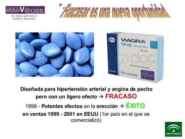 Diseñada para hipertensión arterial y angina de pecho pero con un ligero efecto  FRACASO 1998 - Potentes efectos en la er...