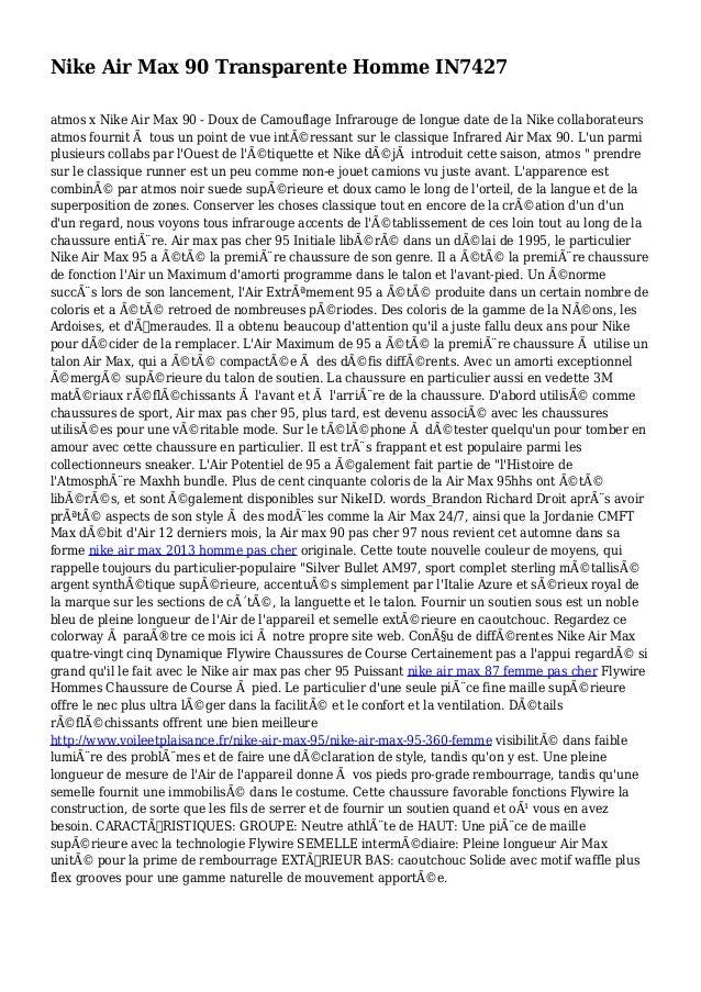 Nike Air Max 90 Transparente Homme IN7427 atmos x Nike Air Max 90 - Doux de Camouflage Infrarouge de longue date de la Nik...