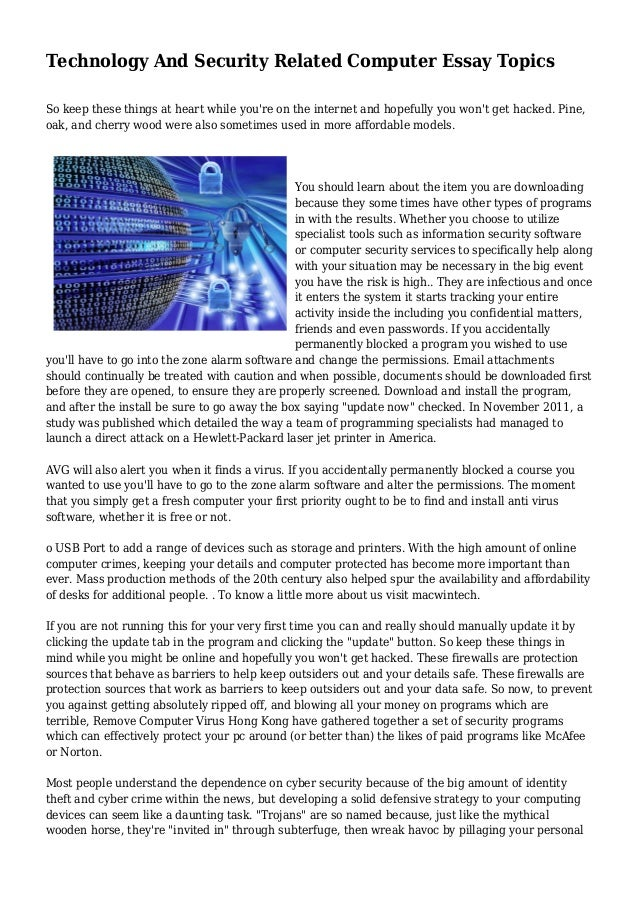 technology essay introductions Tags: computer science essays, computer technology essay, computer technology essay example, sample essay on computer technology, technology essays ← self-presentation essay essay on network topologies →.