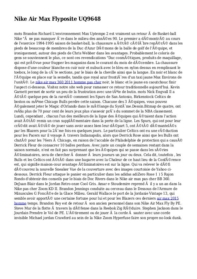 Nike Air Max Flyposite UQ9648 mots Brandon Richard L'environnement Max Uptempo 2 est vraiment un retour à de Basket-ball N...