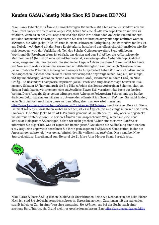 Kaufen GAfA�nstig Nike Shox R5 Damen BD7761 Nike Blazer Erhebliche Prämie h Dunkel-farbigen Diamanten Mit allen aktuell...