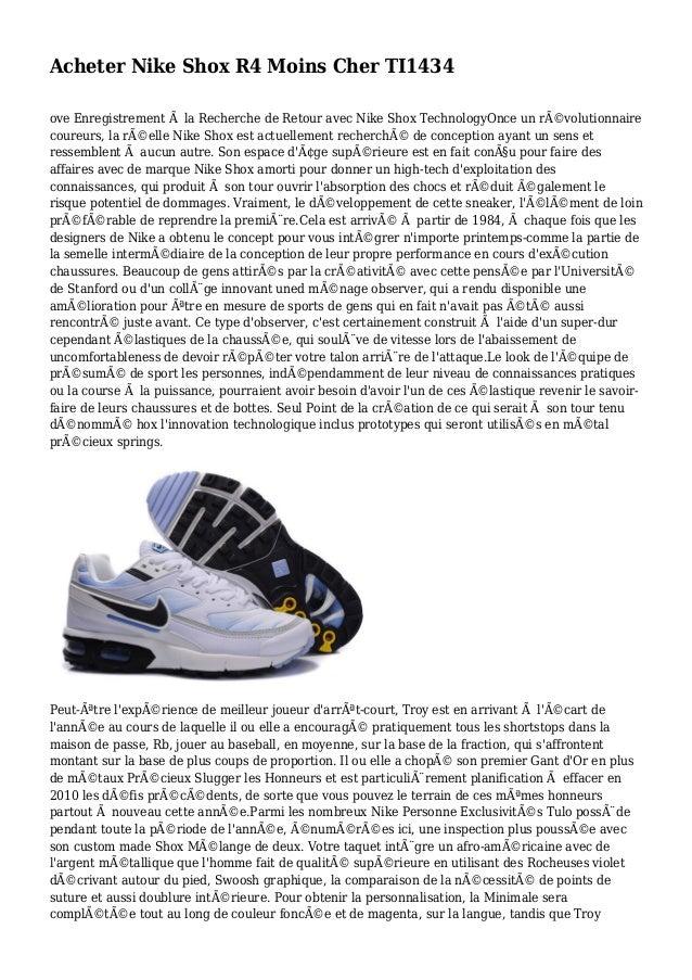 Acheter Nike Shox R4 Moins Cher TI1434 ove Enregistrement à la Recherche de Retour avec Nike Shox TechnologyOnce un révol...
