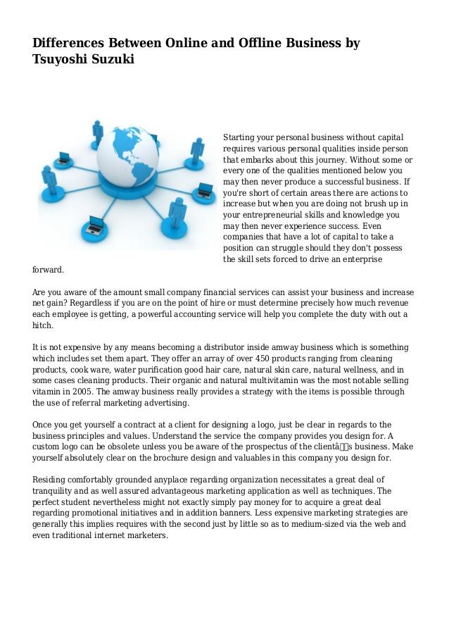Differences Between Online and Offline Business by Tsuyoshi Suzuki
