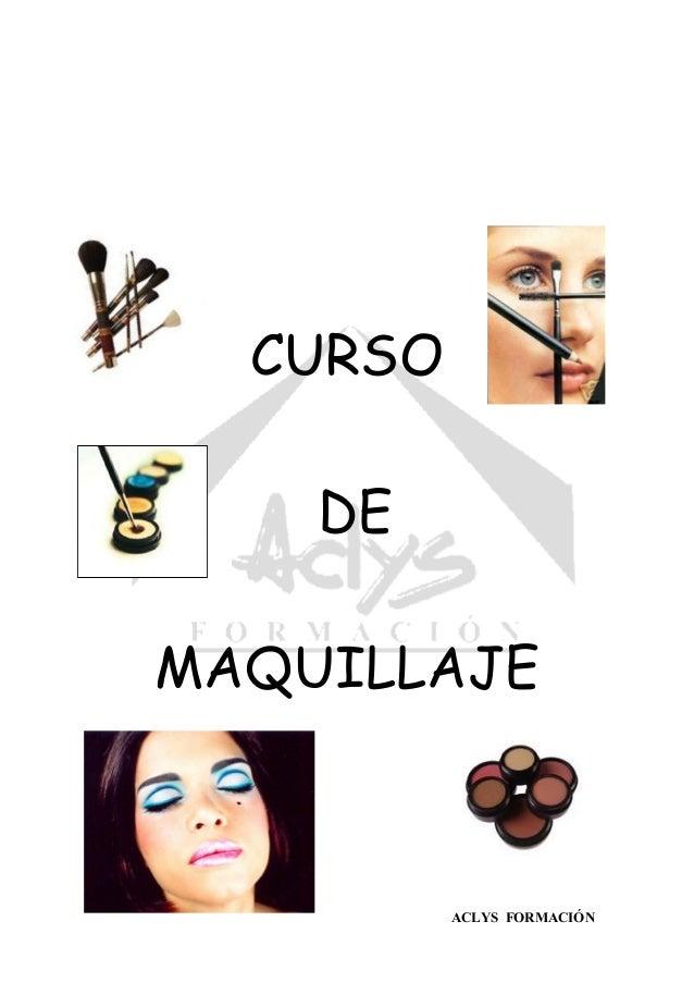 ACLYS FORMACIÓN CURSO DE MAQUILLAJE