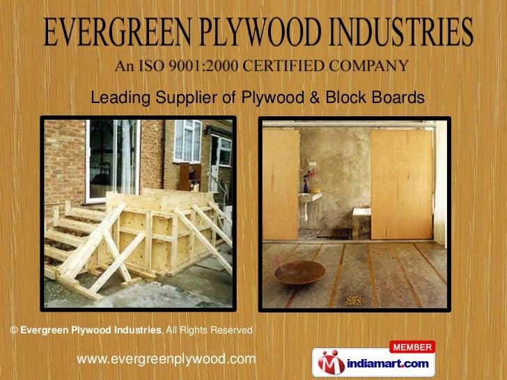 Evergreen Plywood Industries Haryana India