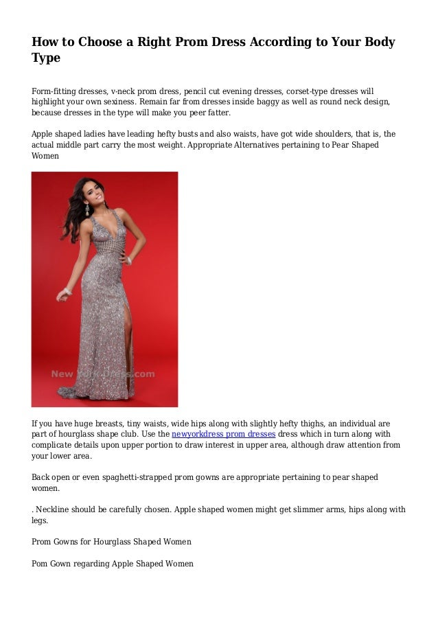How to Choose a Right Prom Dress According to Your Body Type