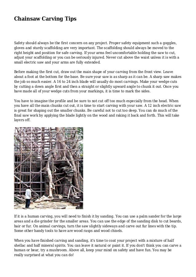 Chainsaw Carving Tips Safety