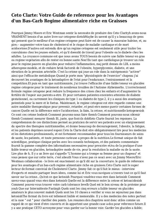 Ceto Clarte: Votre Guide de reference pour les Avantages d'un Bas-Carb Regime alimentaire riche en Graisses Pourquoi Jimmy...