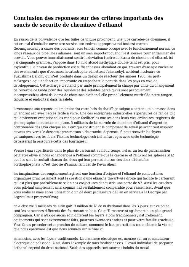 Conclusion des reponses sur des criteres importants des soucis de securite de cheminee d'ethanol En raison de la polyvalen...