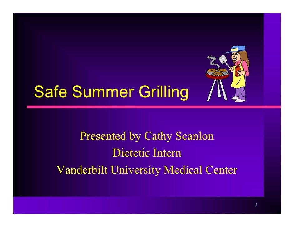 Safe Summer Grilling