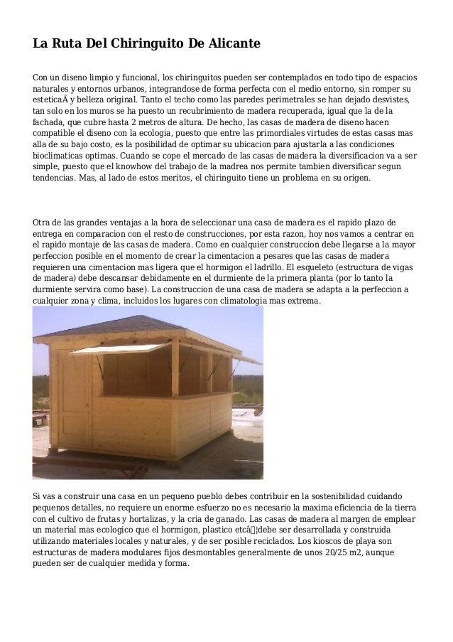 La Ruta Del Chiringuito De Alicante Con un diseno limpio y funcional, los chiringuitos pueden ser contemplados en todo tip...