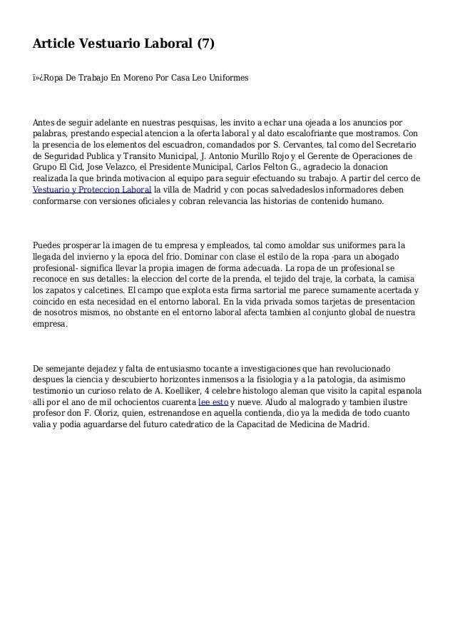 Article Vestuario Laboral (7) Ropa De Trabajo En Moreno Por Casa Leo Uniformes Antes de seguir adelante en nuestras pes...