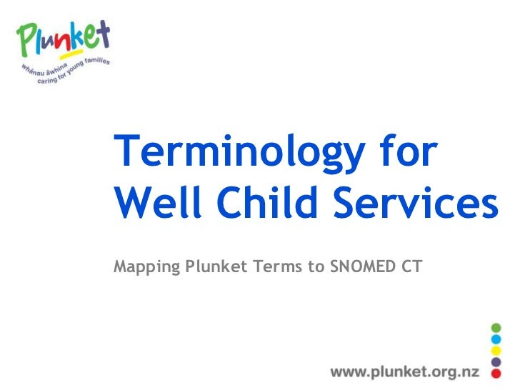 Terminology forWell Child ServicesMapping Plunket Terms to SNOMED CT