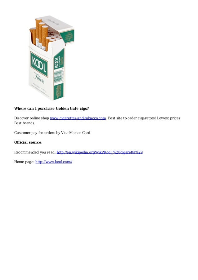 Most popular New Zealand cigarettes Golden Gate brands
