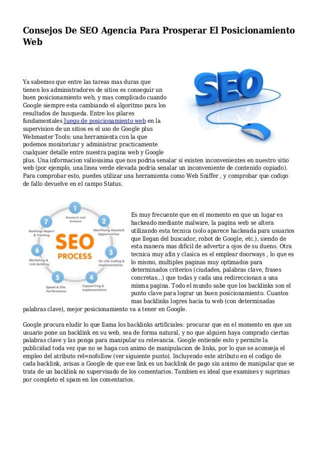 Consejos De SEO Agencia Para Prosperar El Posicionamiento Web Ya sabemos que entre las tareas mas duras que tienen los adm...